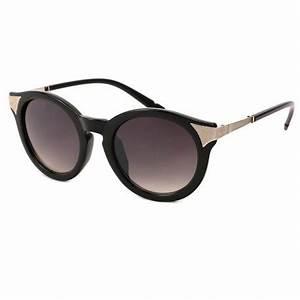 Lunette De Soleil Femme Solde : achat lunettes femmes ronde r tro noir et dor e shop lunettesloupe ~ Farleysfitness.com Idées de Décoration