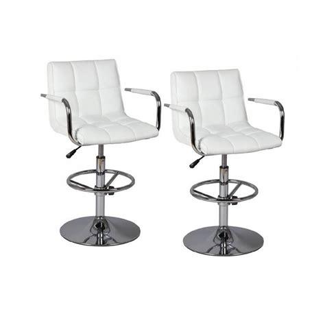 chaise de bar blanche chaises de bar tables et chaises lot de 2 chaises de bar blanches inside75