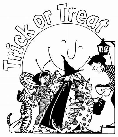 Treat Halloween Coloring Trick Pages Crayola Printable