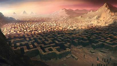 Labyrinth Pyramid Maze Desktop Wallpapers Fantasy Background