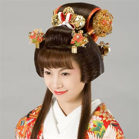 japan edo era fukiwa hairstyle traditional asian