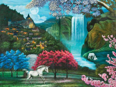 unicorn paradise jigsaw puzzle puzzlewarehousecom