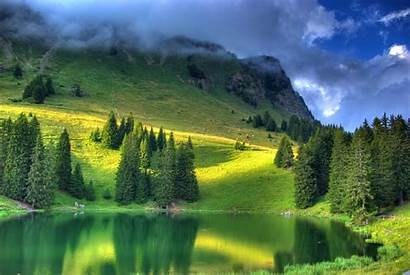 Pond Place Quiet Wallpapers Emerald Greenery Cave