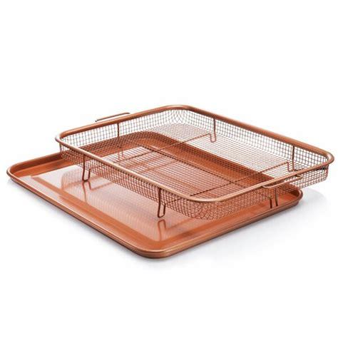 gotham tray crisper copper steel fryer air basket piece oven fry non xl stick xxl nonstick cerama ti cookware kitchen
