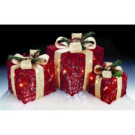premier decorations battery operated set   red jute