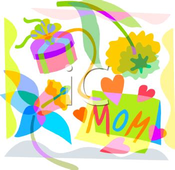royalty  clipart image mothers day design