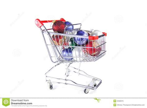 christmas ornaments in cart stock photos image 3492673