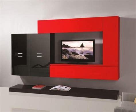 pareti attrezzate mobile soggiorno parete attrezzata mdf rosso nero tv cg home design