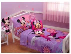 4p disney minnie mouse toddler bed in a bag comforter sheets set room crib ebay