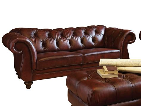 2019 Latest Brown Leather Tufted Sofas