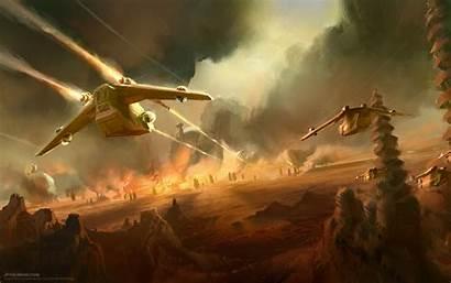 Wars Gunship Republic Concept Clone Geonosis Battle