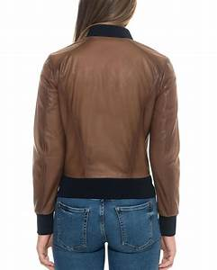 Lyst - Forzieri Brown Leather Women's Bomber Jacket in Brown