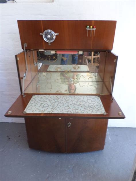 vintage cocktail cabinet   drinks bar retro