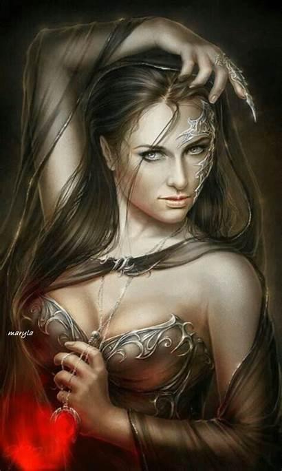 Dark Fantasy Woman Gifs Magic Artistic Prev
