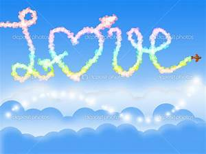 Blue love in the sky wallpaper, love wallpapers free ...