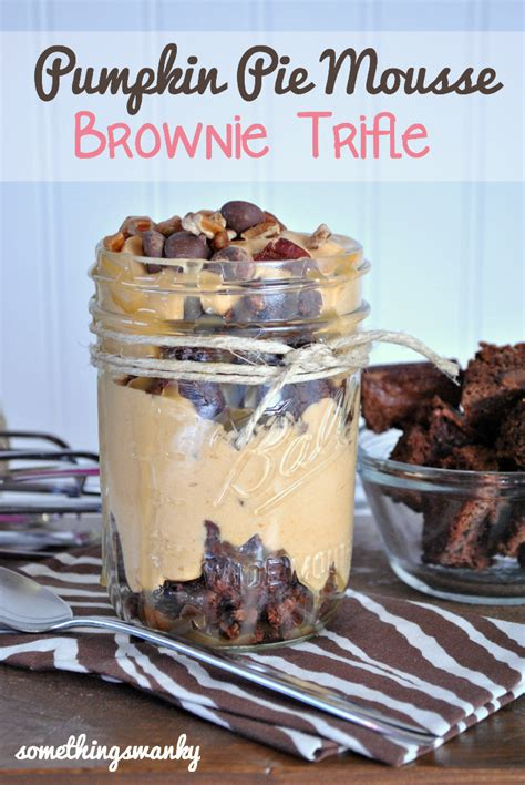 Pumpkin Mousse Brownie Trifle pumpkin mousse brownie trifle something swanky