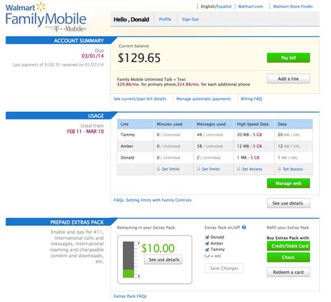 family mobile phones at walmart walmart family mobile unlimited talk text and data web