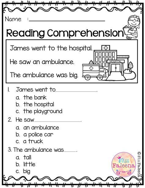 reading comprehension reading worksheets st grade