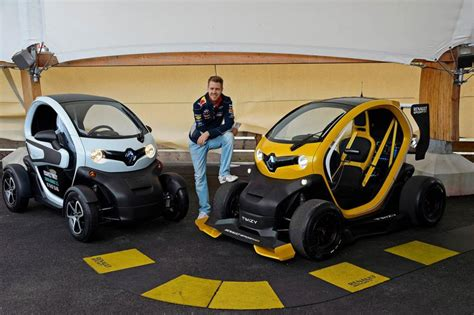 renault twizy f1 sebastian vettel drives renault twizy f1 video pictures