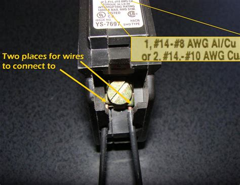 correct double tapped circuit breakers