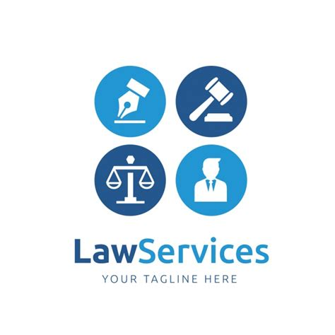 law logo template design vector free download