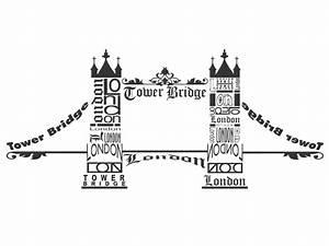 London Skyline Schwarz Weiß : wandtattoo london tower bridge egland ~ Watch28wear.com Haus und Dekorationen