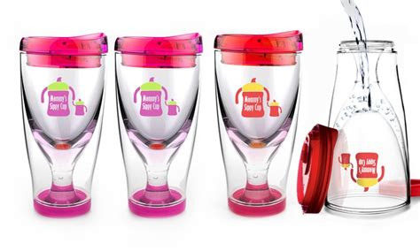 Asobu Ice Vino 2 Go Mommy's Sippy Cup Wine Travel Cups (2