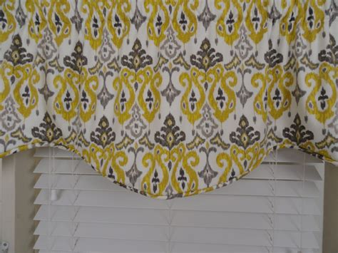 grey and yellow valance valance gray and yellow gray window valance window