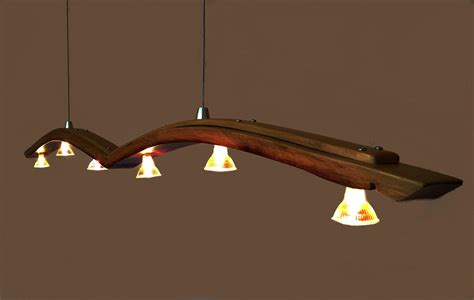 kitchen with two islands seagull recycled wine barrel stave pendant light