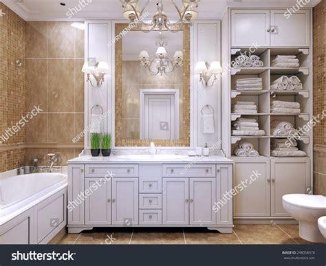 Furniture Classic Bathroom Cream Colored Bathroom Stock