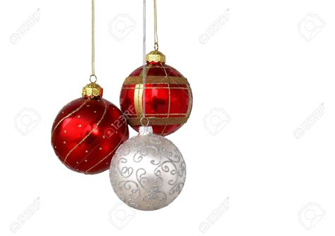 Hanging Red Christmas Ornaments