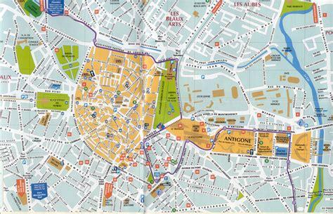 Carte Sud Montpellier by Carte Montpellier Voyages Cartes