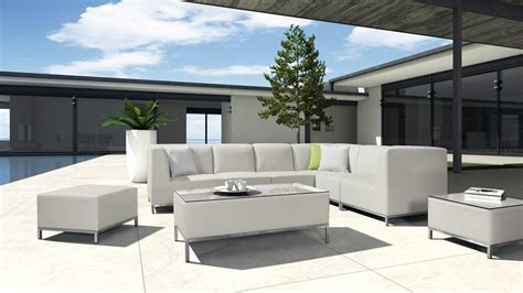 h70 modern patio light grey sectional sofa set