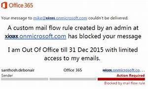 Manage out of office or automatic reply in office 365 for Ooo mail template