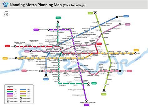 Nanning Metro Map Metro Lines Subway Stations