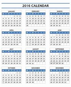 2016 calendar templates microsoft and open office templates for Word calendar template 2016
