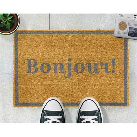 Bonjour Doormat by Grey Bonjour Doormat Brandalley