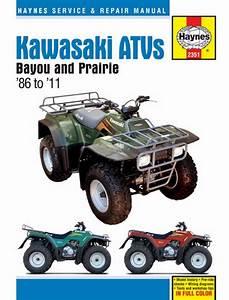 Haynes Service Manual Kawasaki Bayou Klf220 88