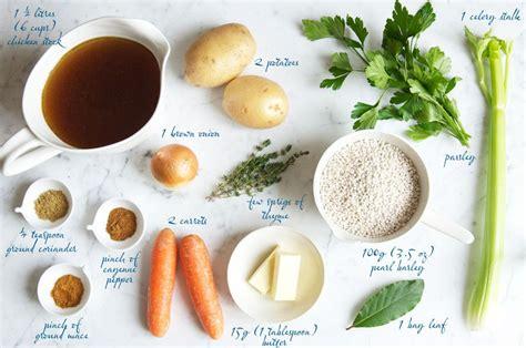 soup ingredients a weekend in kandersteg pearl barley soup eat little bird