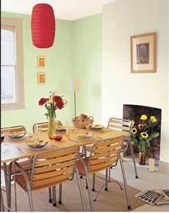 Luminaire Salle A Manger Et Salon : couleur salle a manger harmonie de vert amande et rouge ~ Teatrodelosmanantiales.com Idées de Décoration
