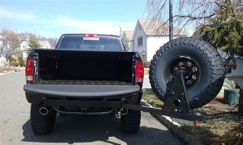 hitchgate tire spare carrier wilco offroad hitch truck ram dodge offset swing mounted mount away road universal tires trucks van