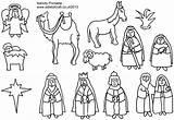Nativity Printables Coloring Scene Printable Story Printablee sketch template
