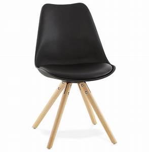 Chaises Scandinaves Noires : chaise scandinave gouja noire chaise design ~ Teatrodelosmanantiales.com Idées de Décoration