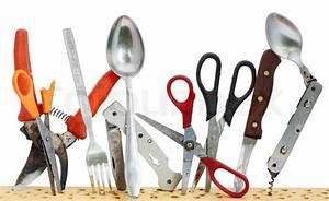 Rostige Messer Reinigen : alte rostige werkzeuge messer l ffel schere auf einem ~ Lizthompson.info Haus und Dekorationen