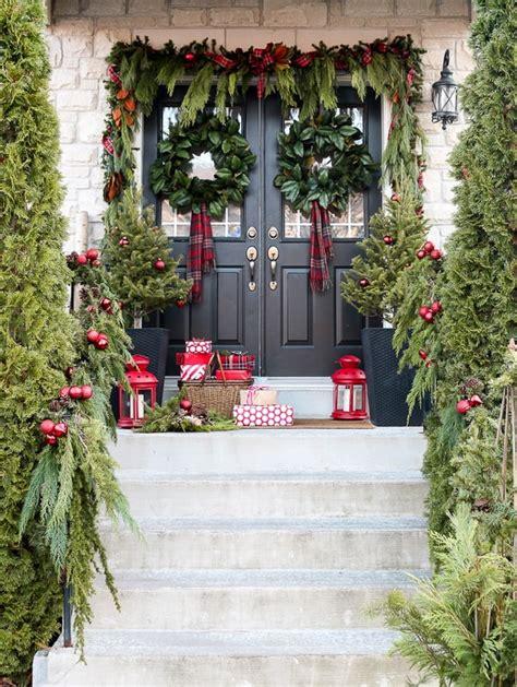 ideas  decorar la entrada de casa  navidad