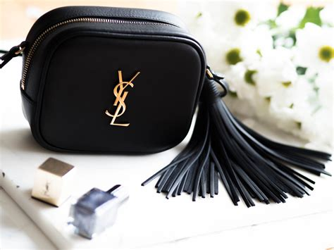 video ysl blogger monogram bag review  fits