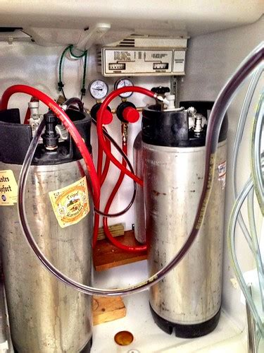 photo  kegerator guts refrigerator  gas system  flickr