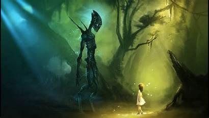 Alien Trippy Background