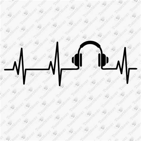 Music Heartbeat SVG Cut File | TeeDesignery.com