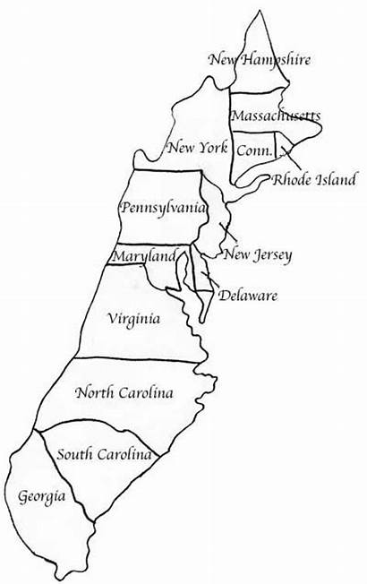 Colonies Map Printable Quiz History Blank America